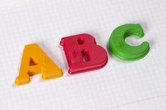 Lettres d'ABC Image libre de droits