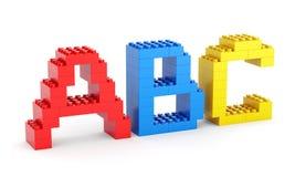 Lettres d'ABC de jouet Images libres de droits
