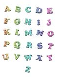 Lettres d'alphabet Photos stock