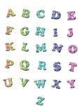 Lettres d'alphabet Photos stock