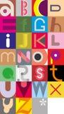 Lettres d'alphabet Image libre de droits