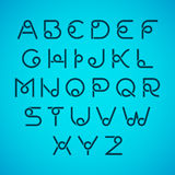 Lettres d'alphabet illustration stock