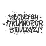 Lettres d'alphabet de style de graffiti Photo stock