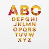 Lettres d'alphabet de vecteur faites à partir des feuilles d'automne Illustration de vecteur illustration libre de droits