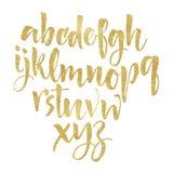 Lettres d'alphabet : minuscule, majuscule, nombres Alphabet de vecteur Image libre de droits