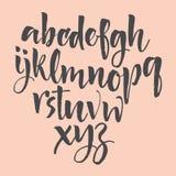 Lettres d'alphabet : minuscule, majuscule, nombres Alphabet de vecteur Lettres tirées par la main Lettres de l'alphabet écrit ave Photographie stock