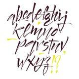 Lettres d'alphabet : minuscule, majuscule, nombres Alphabet de vecteur Lettres tirées par la main Lettres de l'alphabet écrit ave Images libres de droits