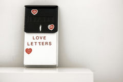 Lettres d'amour Photographie stock