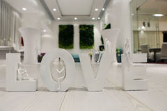 Lettres d'amour Photo stock