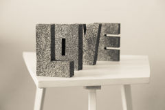 Lettres d'amour Images stock