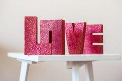 Lettres d'amour Photographie stock