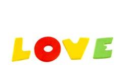 Lettres d'amour colorées de mot Photo stock