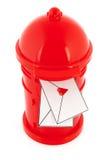 Lettres d'amour dans le cadre rouge de poteau Image stock