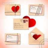 Lettres d'amour dans les enveloppes Image libre de droits