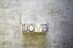 Lettres d'amour de presse de vintage Photographie stock libre de droits
