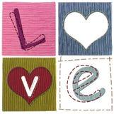 Lettres d'amour de textile Photographie stock libre de droits