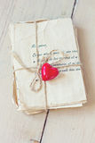 Lettres d'amour de vintage Photo stock