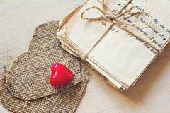 Lettres d'amour de vintage Photographie stock