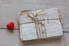 Lettres d'amour de vintage Images stock