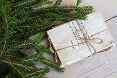 Lettres d'amour de vintage et branches impeccables Photographie stock libre de droits