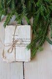 Lettres d'amour de vintage et branches impeccables Image libre de droits