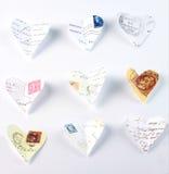 Lettres d'amour de vol Photographie stock