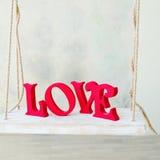 Lettres d'amour en bois Photographie stock libre de droits