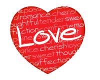 Lettres d'amour rouges de coeur illustration libre de droits