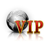 Lettres d'or de VIP. Photo stock