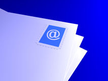 Lettres d'email Photo stock