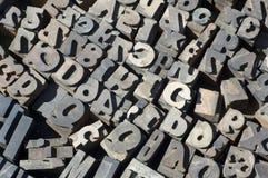 Lettres d'imprimantes Photo libre de droits