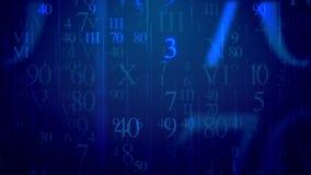Lettres dans les chiffres latins et arabes dans le cyberespace Images stock