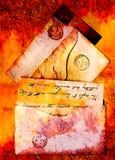 lettres de 1860s Images stock