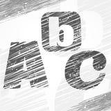 Lettres de b un c Photos libres de droits