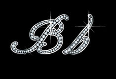 Lettres de Bb de Bling de diamant de séquence type Images stock