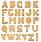 Lettres de biscuits Image libre de droits