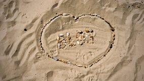 Lettres de blog sur la plage Photos libres de droits