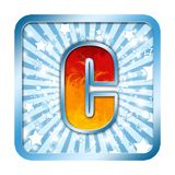 lettres de célébration de l'alphabet c photo libre de droits