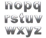Lettres de chrome Image libre de droits