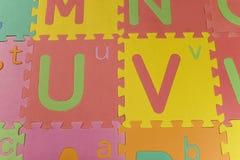 Lettres de couleur I Photos libres de droits