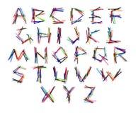 Lettres de crayon lecteur Photo libre de droits