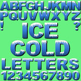 Lettres de glace Images libres de droits