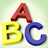 Lettres de gosses orthographiant l'ABC Photo stock