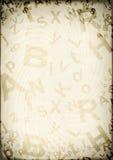 lettres de grunge de fond Image stock