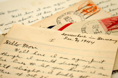 Lettres de guerre Images libres de droits
