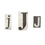 Lettres de journal Photographie stock