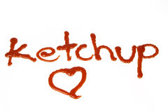 Lettres de ketchup Photographie stock libre de droits