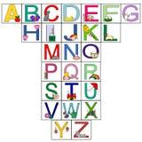 Lettres de l'alphabet Photographie stock libre de droits