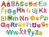 Lettres de l'alphabet illustration de vecteur