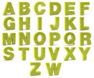 lettres de l'alphabet 3D faites à partir des balles de tennis illustration libre de droits
